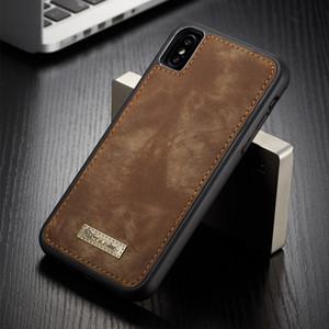 Orjinal CaseMe Vaka iPhone XS Manyetik Vintage Leather + Yumuşak TPU Silikon Arka Kapak Kılıf iPhone X XS XS MAX XR Kutuları