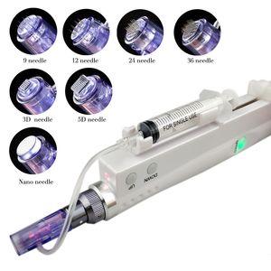 حقن DR009 أكوا ديرما القلم الكهربائية MicroNeedling هيدرا ديرما القلم الوسطى بندقية القابلة لإعادة الشحن