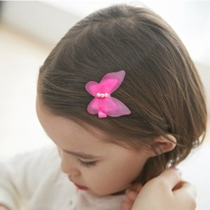 Coreano Boutique simples Bow Side clipe Tecido Barrettes Clipe jóias Hairpin Silk Yarn Lady Cabelo Meninas Acessórios Mulheres Arcos