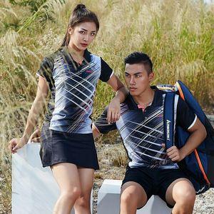 2019 Orijinal Kawasaki ST-S1106 Badminton Spor Tişört V Yaka Nefes Giysileri