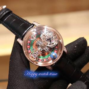 New estática versão EPIC X CHRONO CR7 Liuhepan corpo celeste Tourbillon Dial Quartzo Suíço Movimento Mens Watch Rosa de Ouro Caso Luxry Relógios