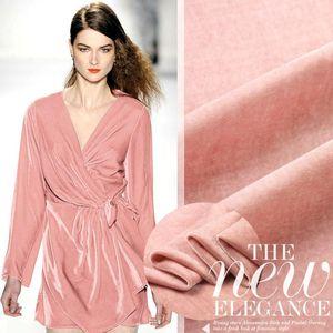 L'alta qualità di trasporto 100% seta velluto tende e vestito in tessuto rosa tessuto di tessile per il materiale cucito commercio all'ingrosso /