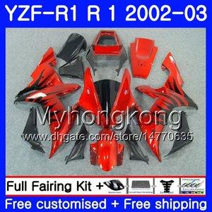 Черное пламя красные тела для Yamaha YZF-1000 YZF R 1 YZF R1 2002 2003 CUDLEWORK 237HM.AA YZF 1000 YZF-R1 02 YZF1000 Frame YZFR1 02 03