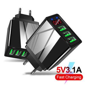 2019 atualizado 5V3A Converter for adaptador de tomada Android iOS Mobile Phone Power Adapter International Travel alimentação com 3 portas USB
