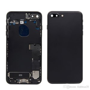 5.5 lnch For iPhone 7 Plus Back Middle Frame Chassis Full 7 Plus Housing Assembly Battery Cover Door Rear with Flex Cable