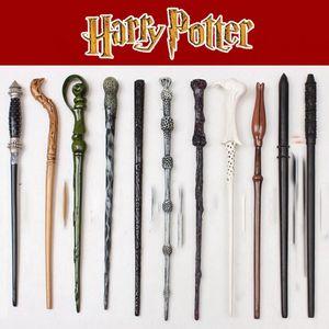 Harry Potter Baguette magique Props Poudlard Harry Potter magique cosplay Dumbledore Halloween cadeau enfants jouet baguette magique boîte LJJK2020
