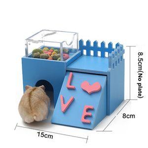 Hamster Качели Timber Wood House Игрушки Hamster Золотой Шелк медведь бунгало спальные гнездо игрушка Зимний Теплый дом качели Hamster Cage
