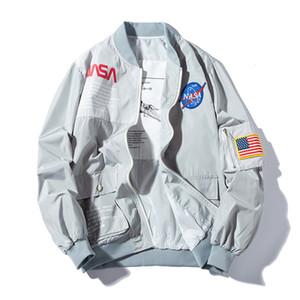 2019 Primavera MA1 Homens Bomber Jacket Brasão Outwear Japão vôo Piloto Jackets Masculino Jacket Colégio Casacos