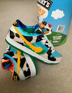 WITH Ice Cream Box New SB Dunk Low Pro QS Chunky Dunky Safari Mens Womens Skateboard Shoes Travis Green ben and jerry jerrys scotts Trainers