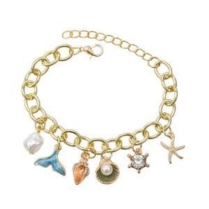 Korean Bracelets Gold Geometric Pendant Bracelet For Women jewelry
