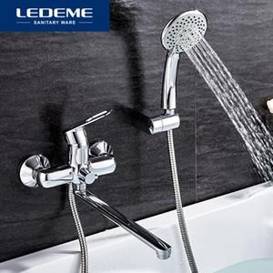 LEDEME 1 SET 욕실 욕조 수도꼭지기구는 수도꼭지 세트 목욕 샤워 탭 욕실 샤워 세트 폭포 샤워 헤드 L2249 Y200321을 설정합니다