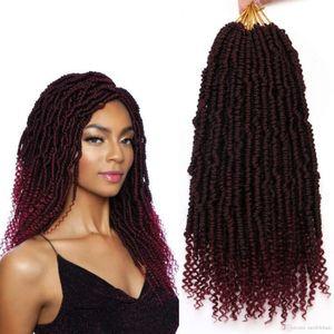 12 inç Senegal Spring kroşe kıvırcık Uçlar sıçrama Sentetik Örgü Saç kroşe Örgü Saç Tutku Twist Örgü (T35 büküm