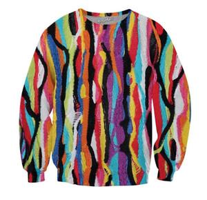 Autunno Felpa girocollo Hip-Hop suda Colorful vestiti di modo delle donne degli uomini magliette casual Jumper Felpe formato S-5XL