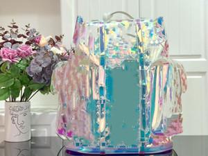 2020 дизайнер рюкзаки прозрачного лазерных женщин дизайнерских сумок высокого качество ПВХ материал Кошельки качества дизайнер топ падение рюкзака доставка