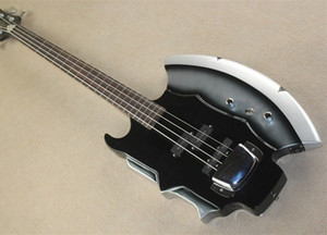 4-String Electric Bass with Axe Shpae,Rosewood Fingerboard,Chrome Color Hardware and can be Customized as Request
