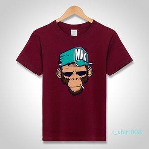 mens designer t shirts cool T-Shirts Cotton Plus Size 5XL Tees monkey print Short Sleeve Men T Shirts Male TShirts Camiseta Tshirt t08