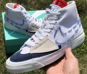 New Luxury SB Dunk ZOOM BLAZER Mid Edge Sneakers Men Women Canvas Hack Pack Casual Running skateboard Platform shoes 36-45 A48