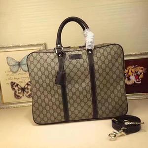 Klassisches Business Casual Herren-Beutel Qualitäts-Luxus echtes Leder PVC-Lock-Designer-Handtaschen Aktentaschen für Mann Laptop 41 * 31 * 6 cm