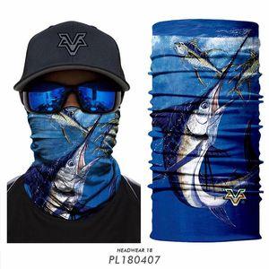 Mascarillas 3D sihirli yüz örtüsü maskesinin dikişsiz headban eşarp Balıkçılık Binme erkekler kadınlar yün oğlan kız yün