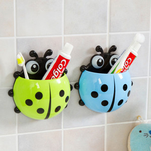 Ladybug Toy Toothbrush Holder Toothpaste Holder Bath Toy Sets Tooth Brush Container Ladybird Toys For Children Kids Gifts
