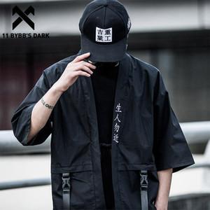 11 Dark BYBB Harajuku Apri Stitch Giacche Uomo di Hip Hop Thin Cappotti 2020 Nastri di stile giapponese Maschio Sette centesimi manica Streetwear