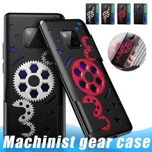 Engranaje giratorio de teléfono del iPhone para XS Max XR 11 Pro caso fresco mecánica para Huawei P30 compañero de Mate 20 30 Casos Pro