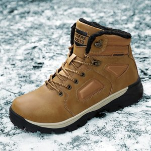 Keep Warm Snow Boots Men Winter Casual genuine Leather lace up fashion Waterproof Men Ankle Boots Military Army Botas a4