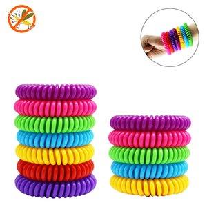 anneau anti-moustique Bracelets bande anti moustiques pour adultes et enfants bande de poignet bracelet ressort plastique support de poignet FFA4160