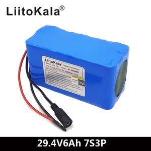 Batteria LIITOKALA 24 V 6AH 7S3P 18650 BATTERIA 29.4 V 6000MAH BMS Bicicletta elettrica ciclomobile / elettrico / Li Ioni di Li Ioni