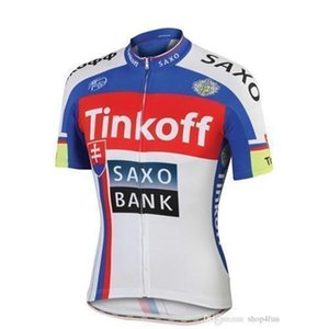 ht 2015 Professional tour de france tinkoff saxo bank champion Cycling Jerseys Quick Dry short sleeves Cycling jerseys red white blue color