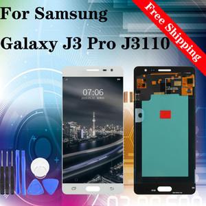 Super qualità per Samsung Galaxy J3 pro J3109 J3110 J3119 AMOLED Display LCD touch screen Digitizer trasporto libero