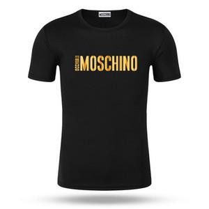 Европейский дизайнерMoschino2020 новые мужские футболки, черные футболки, мужские рубашки, гольф футболки, втор-5xl.предметы роскоши