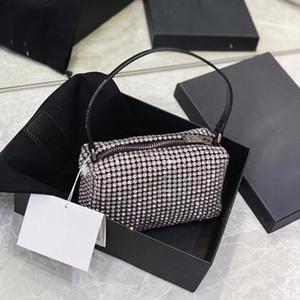 de las mujeres 2020 nuevo tipo bolso de diamante lleno de agua de perforación bolsa de mano que lleva el bolso de la mujer con la bolsa de incrustaciones de diamantes solo hombro handba horcajadas