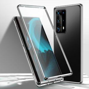 Vendita superiore Huawei P40 / p40pro cassa del telefono mobile, a doppia faccia assorbimento magnetico cassa del telefono mobile di vetro trasparente