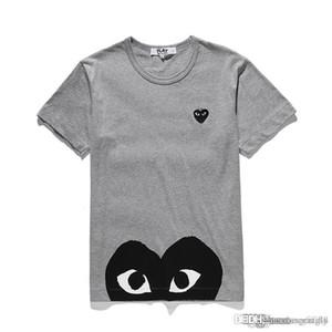 2018 COM Kalite Erkekler Kadınlar Gery CommeS des GARCONS toplam kolu T-shirt Beyaz Boyut M istemi karar F / S