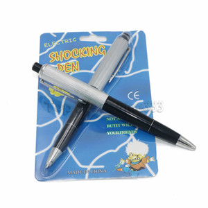 Penna elettrica Shock Con scatola Confezione Pratica Joke Gag Prank April Fools Day Penna elettrica Funny Trick Fun Gadget April Fool Toy