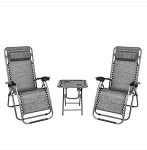 Taşınabilir Kupası Tutucu Tablo ile ücretsiz nakliye toptan 2PCS Sıfır Yerçekimi Lounge Chair Gri