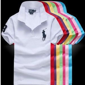Hot Sell nuovo Polo camicia di modo del manicotto degli uomini camice casuali dell'uomo Solid Polo formato S-3XL