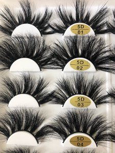 14 styles 5D 25mm false eyelashes a pair of thick exaggerated eyelashes 25 mm real mink hair 10 sets free shipping