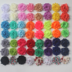 """100pcs 1.5"""" petite shabby chiffon flowers for baby hair clothing headband hair clip accessories,craft flower supplies"""