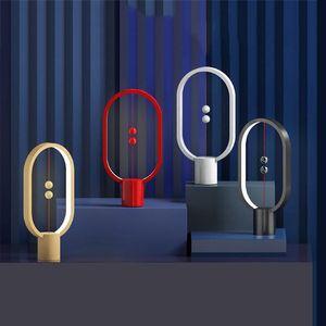 Heng Intelligent Balance Interruttore magnetico Camera LED lampada da tavolo Hanging sfera creativa Night Light