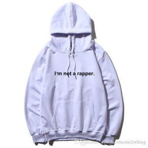 I Am Not A Rapper Loose Mens Thick Hoodies Spring Winter Long Sleeve Printed Couples Sweatshirts Designer Hoodie Jacket
