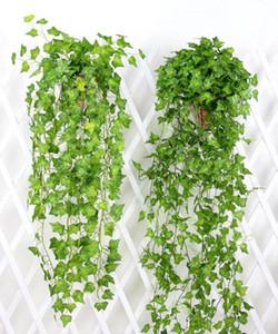 Artificiale Ivy Ghirlanda Fogliame Fogliame Verde foglie finte impianti d'attaccatura della vite per la decorazione della parete del giardino della festa nuziale DHB671