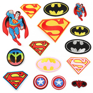 Cartoon Super Hero Embroidery Patches Superman Captain America Flash Sew Iron On Applique DIY Badge Patch For Kids Clothes Jacket Bag