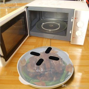 Magnetic Microwave Splatter Guard Hover Anti-Sputtering Cover Food Splatter Guard Microwave Splatter Lid with Steam Vents 30*8.5cm