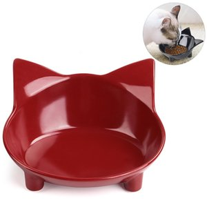 Hot Sell Cute Pet Supplies Candy Color Plastic Dog Bowl Feeding Water Puppy Feeder Cat Dog Bowls Pet Supplies