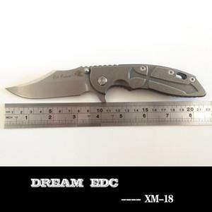 Rick Hinderer XM-18 costume alça de titânio dobrar faca Bowie M390 lâmina de acampamento ao ar livre ferramentas de caça bolso EDC rápido envio venda quente