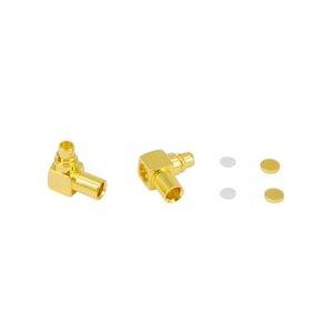 MMCX Erkek Dik Açı Yarı Sert RG405 RF koaksiyel bağlantı