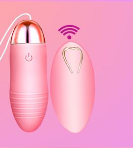 Silicone Oeuf Vibrant femmes sans fil vibrateurs Remote Control Bullet Vibrator Jump Egg étanche clitoridien stimulation Sex Toy pour les femmes