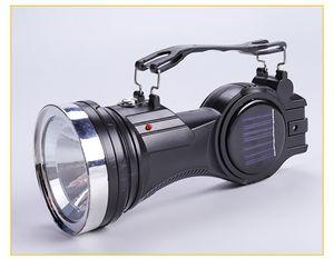 2020 Hot Cross-border nova carregada com energia solar lanterna LED acampamento ao ar livre multi-função COB iluminação lanterna de mão lâmpadas solares